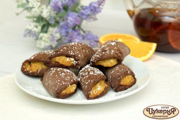 Шоколадные палочки с апельсином