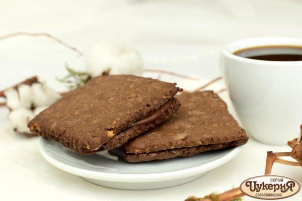 Печенье шоколадно-ореховое с вареньем