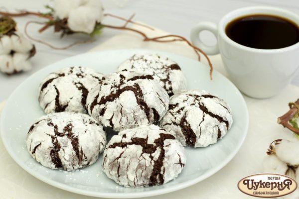 Печенье трюфельное с сахарной присыпкой