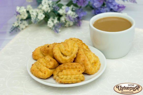 Творожное печенье к кофе