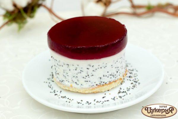 Легкое нарядное пирожное из фркутового желе и творожного суфле