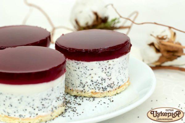 Пирожное для любителей мака и фруктовых желе