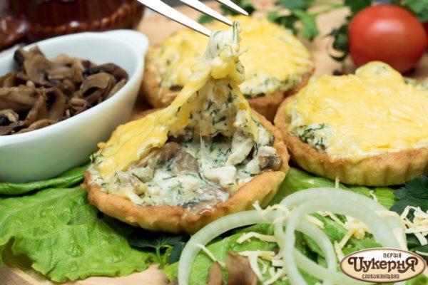 Тарт Жюльен с грибами