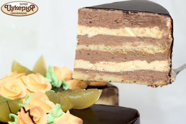 Кусочек Андалузского торта с апельсином
