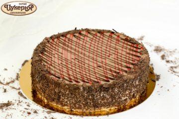 Шоколадно-клубничный чизкейк