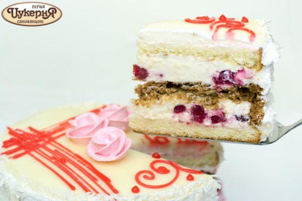 Кусочек фруктового торта Финезия