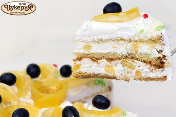 Кусочек фруктового торта
