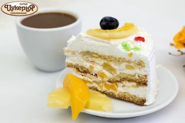 Легкий торт Фруктовая фантазия к чашечке кофе