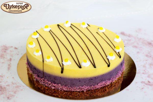 Торт Лимонно-черничное суфле