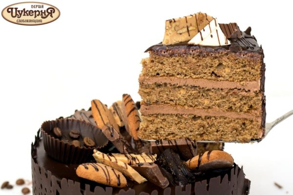 Кусочек торта Мокко