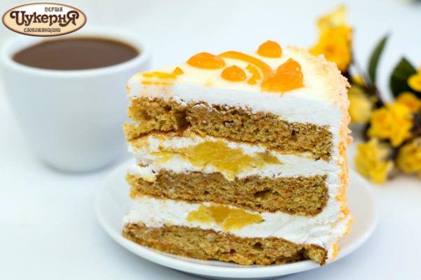 Торт со свежим апельсином