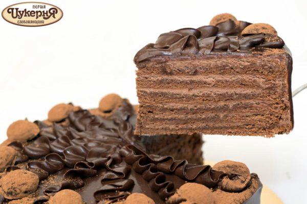Кусочек торта трюфельного