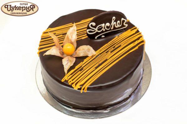 Оформление торта Захер